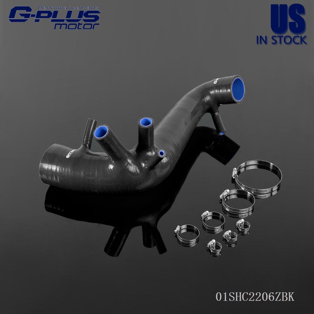 For VW Polo 1.8T GTI 9N Ibiza FR MK4 Cupra Silicone Intake Hose Pipe Kit Black