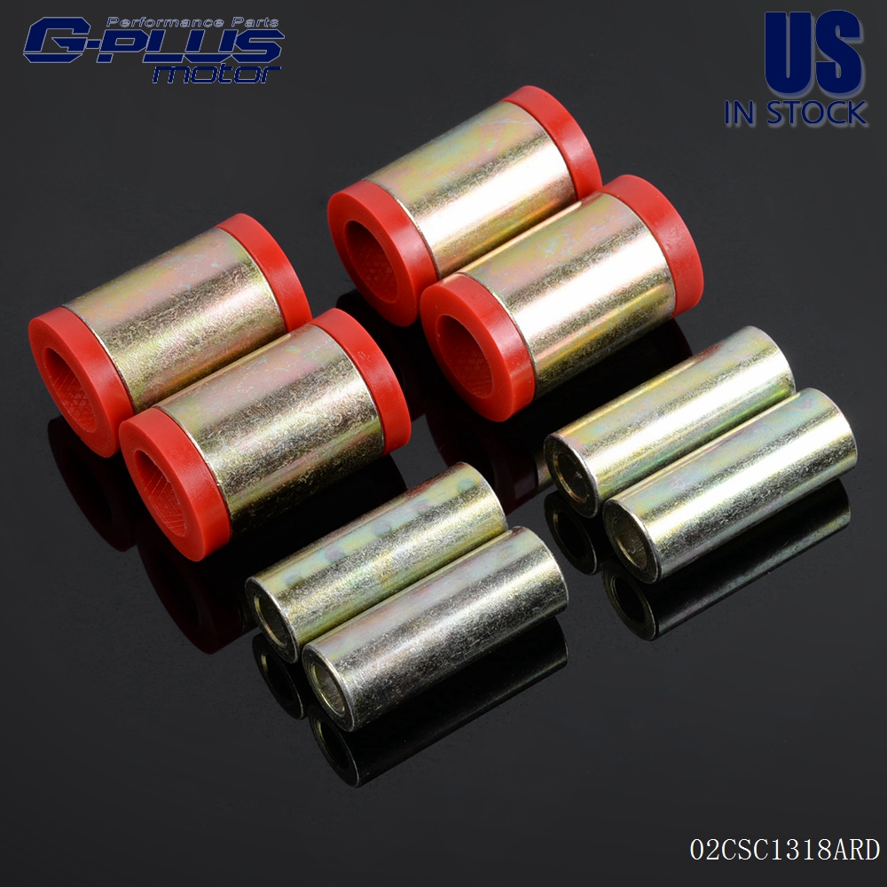 Red For Honda Civic//Civic Si 1996-2000 Rear Upper Lower Control Arm Bushing Kit